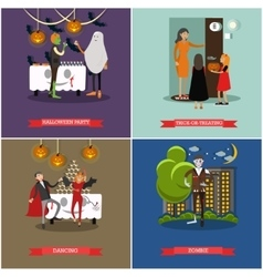 Happy halloween holiday party concept posters vector image