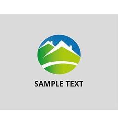 House abstract icon logo design template vector image