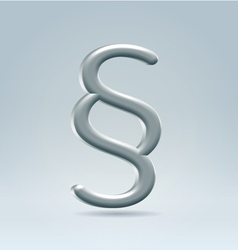 Metallic section mark vector image