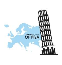 tower of pisa vector image