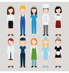 Women profession vector