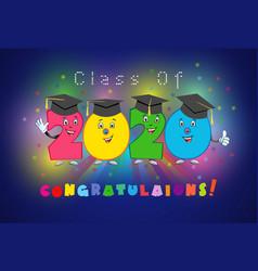 2020 graduates characters vector image