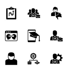 9 organization filled icons set isolated on white vector