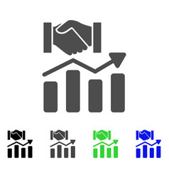 Acquisition hands graph trend icon vector