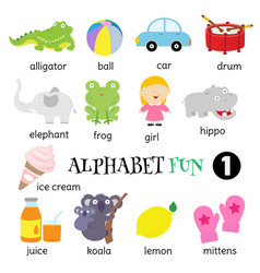 alphabet fun 1 vector image