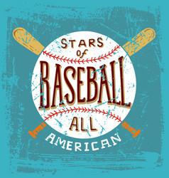 baseball stars all american vector image