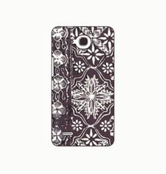 batik phonecase 17 vector image