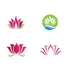 Beauty flowers logo vector