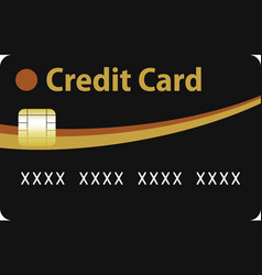 black and gold credit card vector image