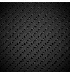 Black Background with Perforated Pattern vector image vector image
