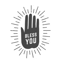 bless you hand palm vector image