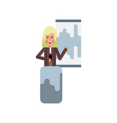 Blonde woman doing business presentation vector