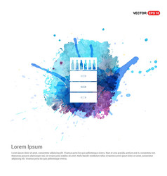 Bottles on bar counter icon - watercolor vector