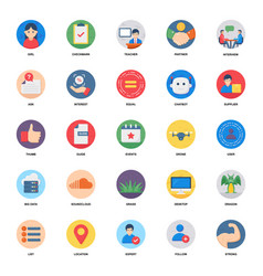 Business meeting flat icons pack vector