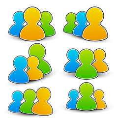 characters community icons vector image