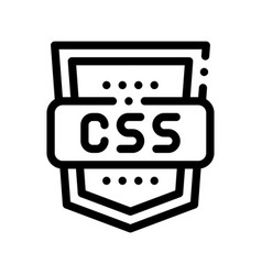 coding language css system thin line icon vector image