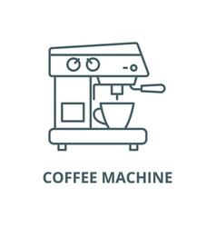 coffee machine line icon coffee machine vector image