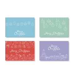 collection of colorful hand drawn merry vector image