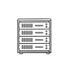 computer server hand drawn outline doodle icon vector image