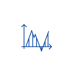 diagram timelinespectrogram line icon concept vector image