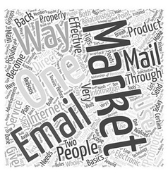 Direct email marketing word cloud concept vector