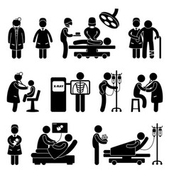 Doctor nurse hospital clinic medical surgery vector
