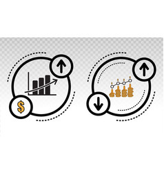 Economic recovery or stock market recovery graph vector