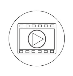 film strip icon design vector image