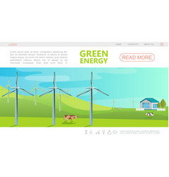 flat ecology colorful webpage template vector image