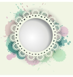 Gentle women and children background with napkin vector
