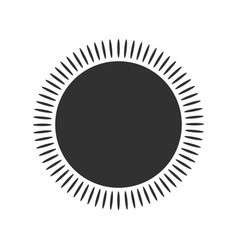 Geometric sun with rays circle element made of vector