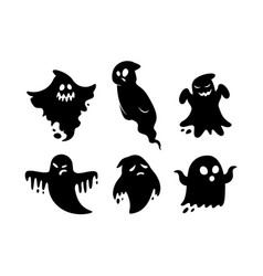 ghosts isolated on white background vector image