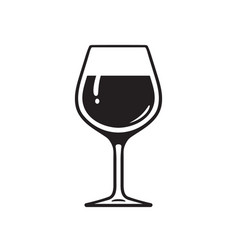 Glass wine wineglass icon vector