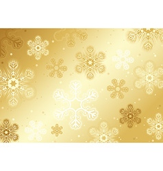 Gold Christmas Snowflakes vector