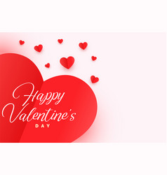 happy valentines day origami style hearts banner vector image