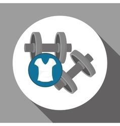 Healthy lifestyle design fitness and bodybuilding vector