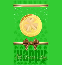 Holiday flyer for st patricks day vector