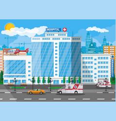 hospital building medical background vector image