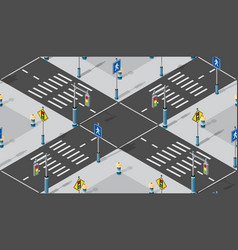 intersection isometric seamless vector image