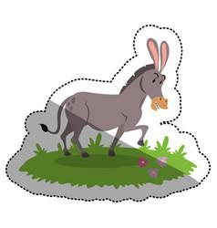 Isolated donkey cartoon design vector