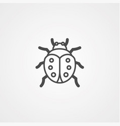 ladybug icon sign symbol vector image