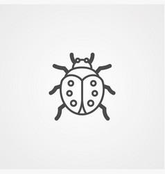 ladybug icon sign symbol vector image