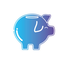line pig to save cash money vector image