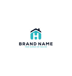 Logo design for letter h and house vector