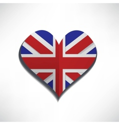 Love flag london vector