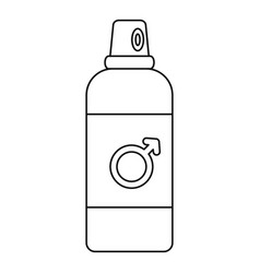 male contraceptive spray icon outline style vector image