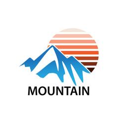 mountain business logo vector image