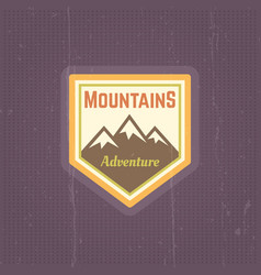 mountains vintage colored emblem vector image