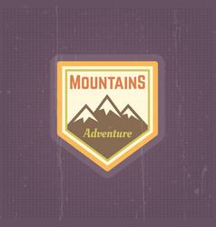 mountains vintage colored emblem vector image
