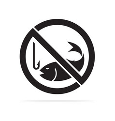 no fishing icon concept for d vector image